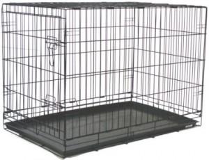 2 Door Pet Wire Cage with ABS Pan