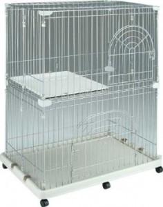 IRIS Wire Cat Cage, Silver